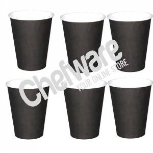 Fiesta Single Wall Coffee Cups Black 340ml / 12oz x pack of 600