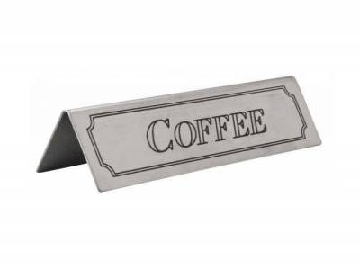 Coffee Table Sign Stainless Steel