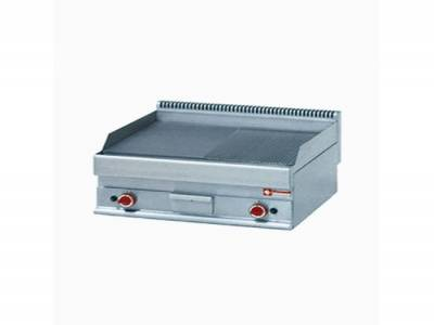 Gas Griddle Half flat and Half Ribbed