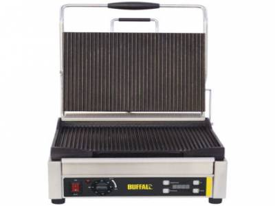 Buffalo Large Single Contact Grill Ribbed Plates