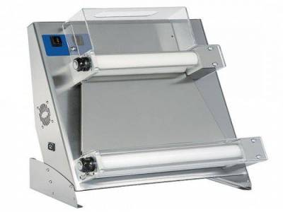 dough rolling machine with 2 parallel rollers for pizzas ø 260-400 mm