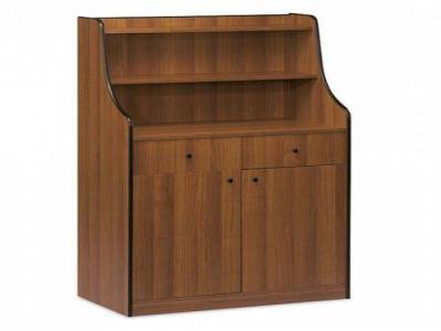 Service Cupboard with 2 Drawers, 1 bin, 1 Door and Shelf Upstand