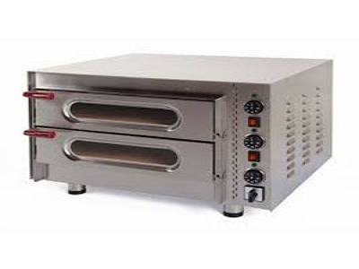 Kingfisher 50/2 Little Italy Twin Deck Electric Midi Pizza Oven