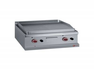 Gas Griddle Half Smooth and Half ribbed