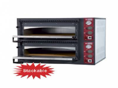 Diamond Twin Deck Electric Pizza Oven, 2 x 6 Pizzas Ø 330mm