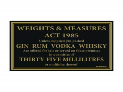 170x110mm 35ml Whiskey, Gin, Vodka, Rum