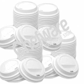 Paper Cup Sip Lids White for Caterpack 25cl Pack of 1000