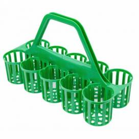 Glass / Bottle Carrier 10 Pockets GREEN