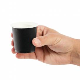 Fiesta Disposable Espresso Cups Black 112ml / 4oz (Pack of 1000)