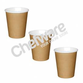 Fiesta Single Wall Paper Coffee Cups Kraft 225ml / 8oz box of 1000