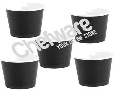 Fiesta Disposable Espresso Cups Black 112ml / 4oz (Pack of 1000) (20 x  pack 50 )