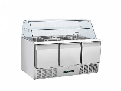 Blizzard BPD3-ECO 350 Ltr 3 Door Refrigerated Prep Counter with Display
