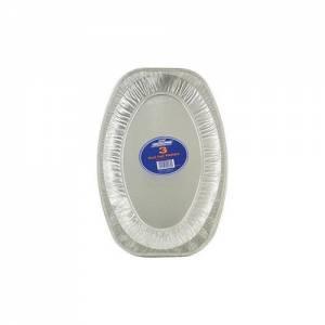 Aluminium Foil Platter Oval 35.5cm Pack of 6