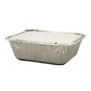 Aluminium Foil Food Containers + Lids (12.5cm x 10cm ) Pack of 46