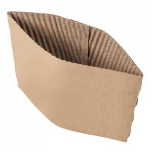 Coffee Cup Sleeves Compostable for (12/16/20 oz Cups) Pack of 100