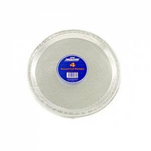 Round Aluminium Foil Platters 30cm Pack of 4