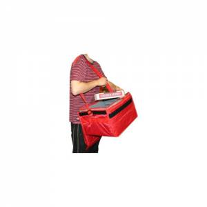Delivery Bag With Strap, Red Nylon, 17 x 17 x 13