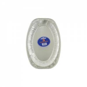 Aluminium Foil Platter Oval 35.5cm Pack of 6