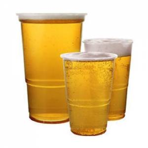 Pint Tumblers Clear Plastic pack of 25